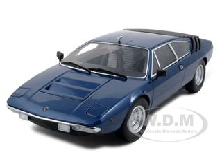 Lamborghini Urraco P250 Blue 1/18 Diecast Model Car by Kyosho