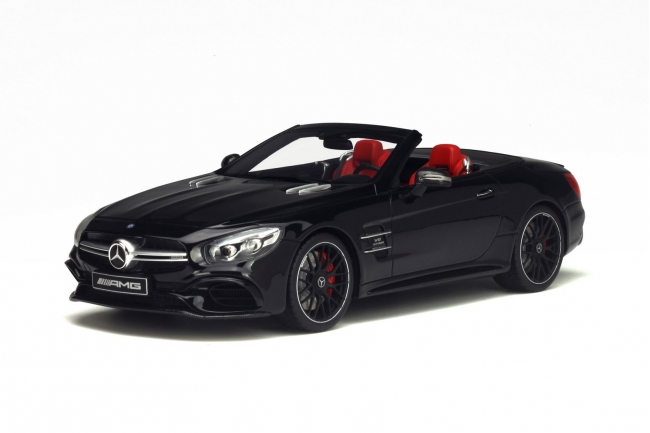 Mercedes AMG SL 63 Black Limited Edition to 1000pcs 1/18 Model Car by GT Spirit