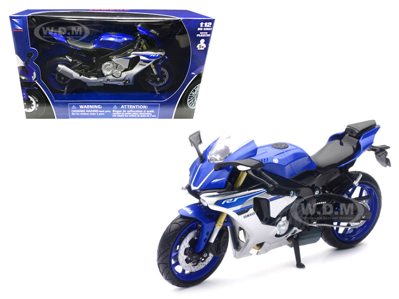 2016 Yamaha YZF-R1 Blue Motorcycle Model  1/12 by New Ray 57803A