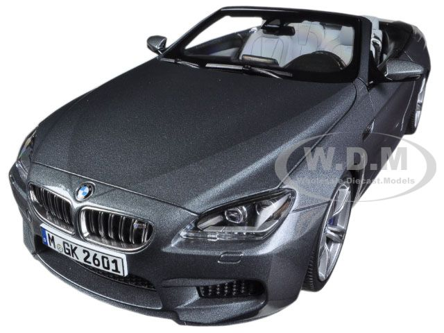 BMW M6 F12M Convertible Space Grey 1/18 Diecast Car Model by Paragon (97062) photo