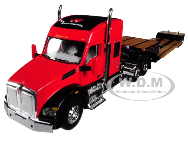 Massey Ferguson Kenworth T880 Sleeper Cab with Fontaine Renegade Lowboy Trailer 1/64 Diecast Model by Speccast