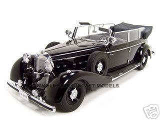 1938 Mercedes 770K Parade Car Black 1/18 Diecast Model Car by Signature Models