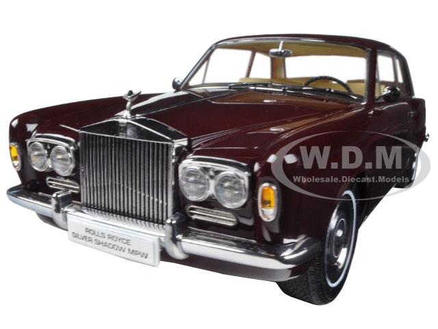 1968 Rolls Royce Silver Shadow Burgundy 1/18 Diecast Model Car by Paragon (98204) photo
