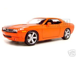 2006 Dodge Challenger Concept Car  Orange 1/18 Diecast Model Car by Maisto