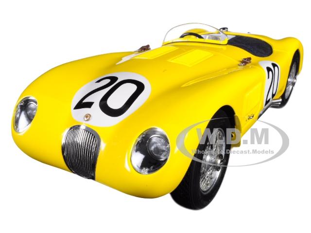 Jaguar C-Type 20 Roger Laurent Charles de Tornaco 24 Hours of Le Mans France (1953)
