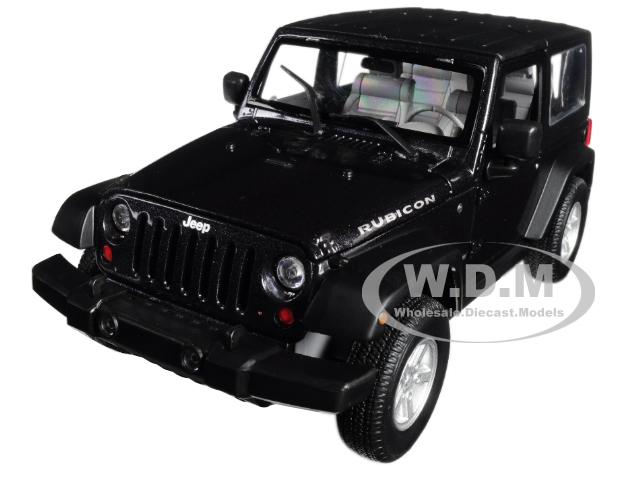 2007 Jeep Wrangler Dark Gray Metallic 1/24 - 1/27 Diecast Model Car By Welly