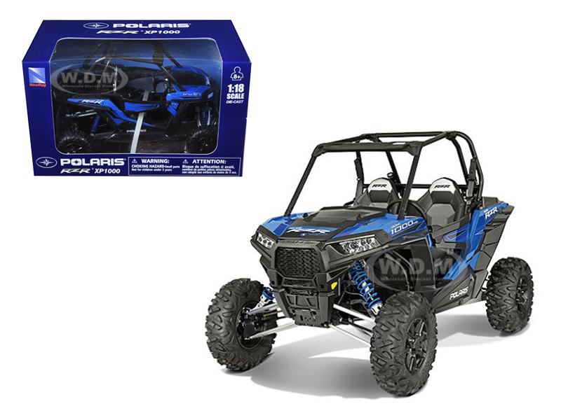 Polaris RZR XP 1000 Dune Buggy Woodoo Blue 1/18 Model by New Ray 57593B