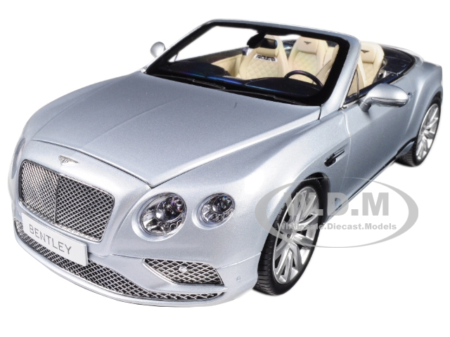 2016 Bentley Continental GT Convertible LHD Silver Frost 1/18 Diecast Model Car by Paragon (98231) photo