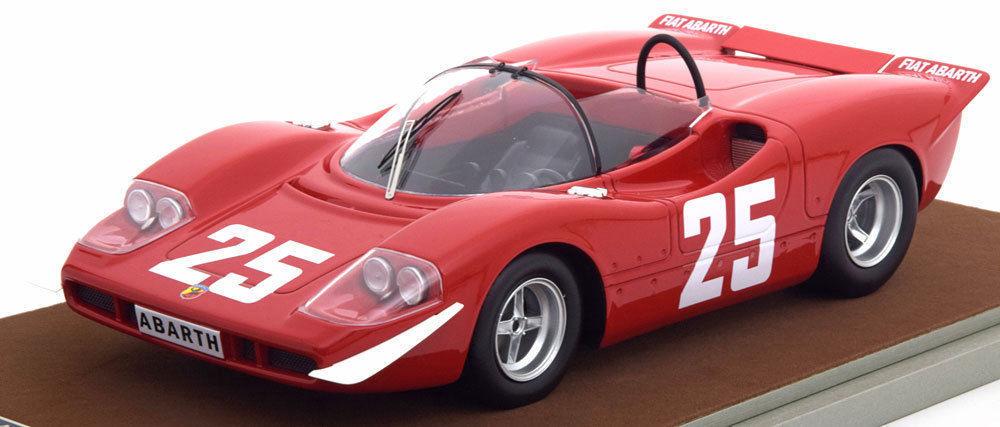 Abarth 2000 S #25 1969 Winner Imola Gijs van Lennep / Johannes Ortner Limited Edition to 50pcs 1/18 Model Car by Tecnomodel TM18-58E