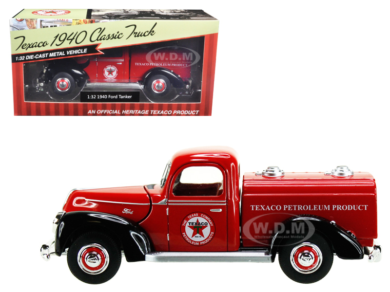 1940 Ford Tanker Texaco Red 1/32 Diecast Model Car By Beyond Infinity