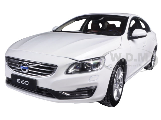 2015 Volvo S60 Crystal White Pearl 1/18 Diecast Model Car by Ultimate Diecast
