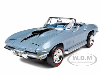 1967 Chevrolet Corvette L88 Blue 1/18 Diecast Model Car by Autoworld