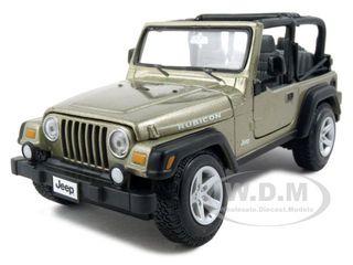 Jeep Wrangler Rubicon Diecast Car Model Khaki 1/27 Diecast Model Car by Maisto