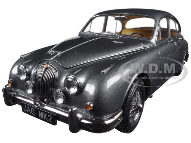 1962 Jaguar Mark 2 3.8 Gunmetal Left Hand Drive 1/18 Diecast Model Car by Paragon (98323) photo