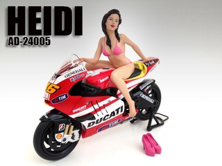Model Heidi Figure For 112 Scale Motorcycles by American Diorama
