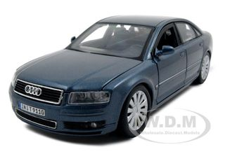 Audi A8 Blue 1/26 Diecast Model Car by Maisto