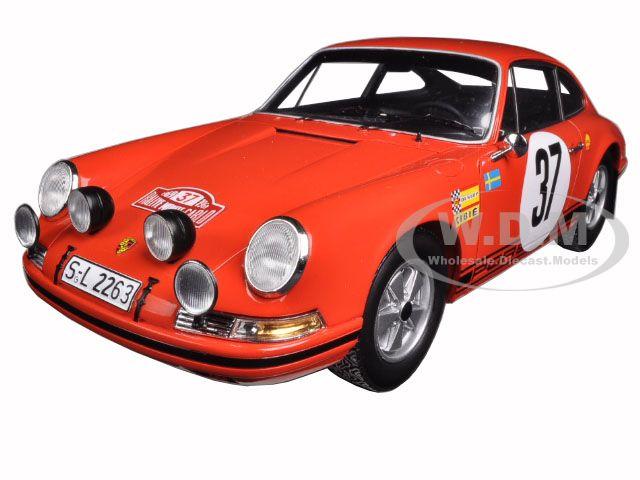 1969 Porsche 911 S #37 Monte Carlo Rally Winner B. Waldegaard/L. Helmer 1/18 Model Car by Spark  18S080