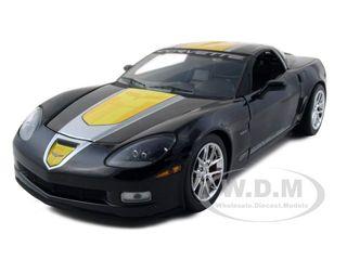 2009 Chevrolet Corvette C6 Z06 GT1 Jake Edition Black 1/24 Diecast Model Car by Greenlight