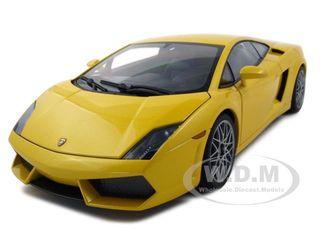 Lamborghini Gallardo LP560 4 Yellow With Optional Cordelia Wheels 1/18 Diecast Model Car by Autoart