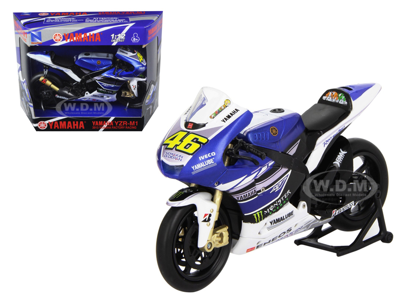 2013 Yamaha YZR-M1 Valentino Rossi Monster Moto GP #46 Motorcycle Model 1/12 by New Ray NR57583