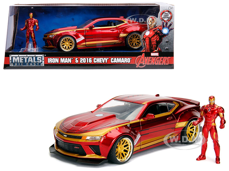 2016_Chevrolet_Camaro_with_Iron_Man_Diecast_Figure_Marvel_Series_124_Diecast_Model_Car_by_Jada