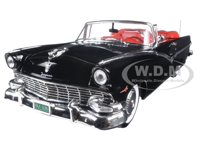 1956 Ford Sunliner 60th Anniversary Black Limited Edition to 1002pcs 1/18 Diecast Model Car  by Autoworld