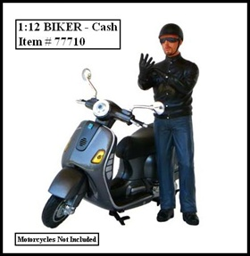 Biker Cash Figure For 112 Models by American Diorama