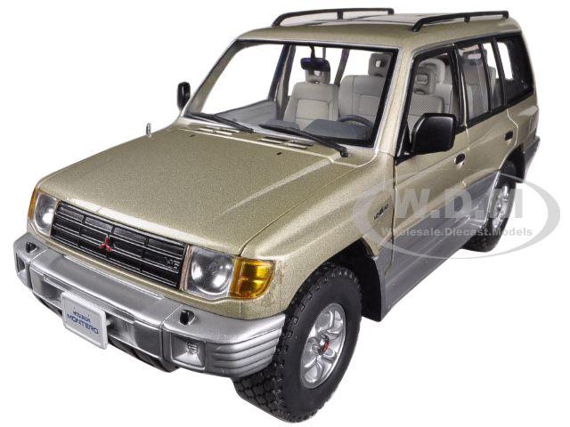 1998 Mitsubishi Montero Long 3.5 V6 Sudan Beige Metallic 1/18 Diecast Car Model by Sunstar