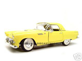 1955_Ford_Thunderbird_Yellow_118_Diecast_Model_Car_by_Road_Signature