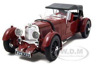 1934 Aston Martin Mark II Diecast Car Model Burgundy 1/32 by Signature Models