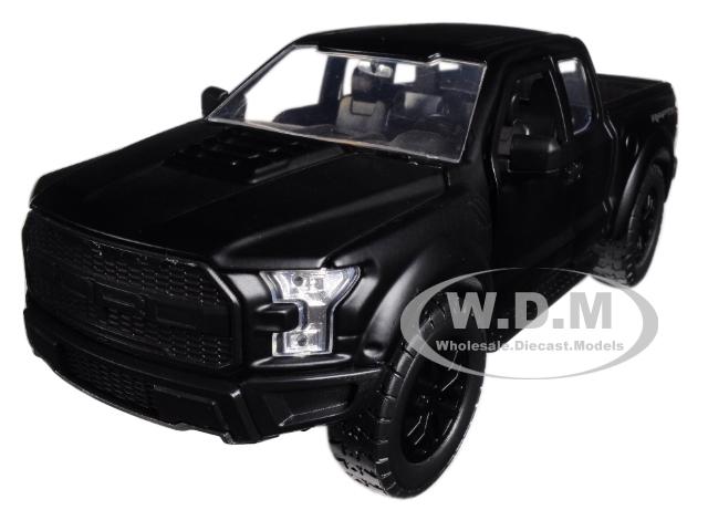 2017_Ford_F150_Raptor_Pickup_Truck_Matt_Black_Just_Trucks_124_Diecast_Model_Car_by_Jada