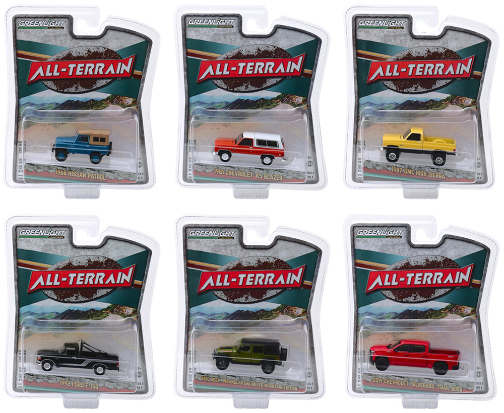 """""""All Terrain"""" Series 9 Set of 6 pieces 1/64 Diecast Model Cars by Greenlight"""