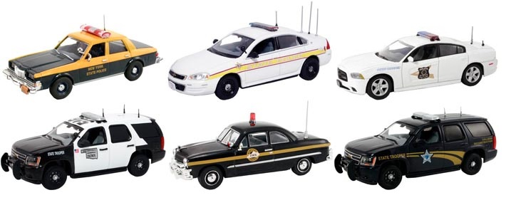 Image Supermarket xxnhc Misc. Set of 6 Police Cars Release #2 1/43 Diecast Car Model by First Response First Response FR-43-R02 FR-43-R02