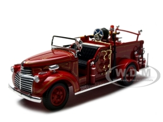 1941_GMC_Fire_Engine_Truck_Red_132_Diecast_Model_Car_by_Signature_Models