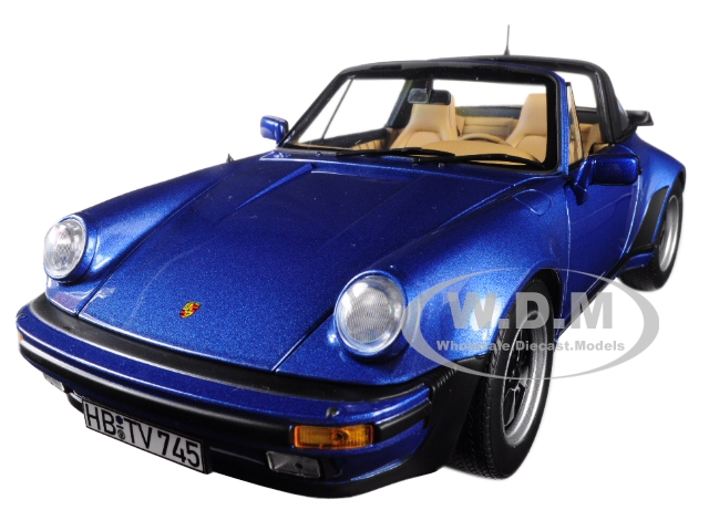 1987_Porsche_911_Turbo_Targa_33_Blue_Metallic_118_Diecast_Model_Car_by_Norev