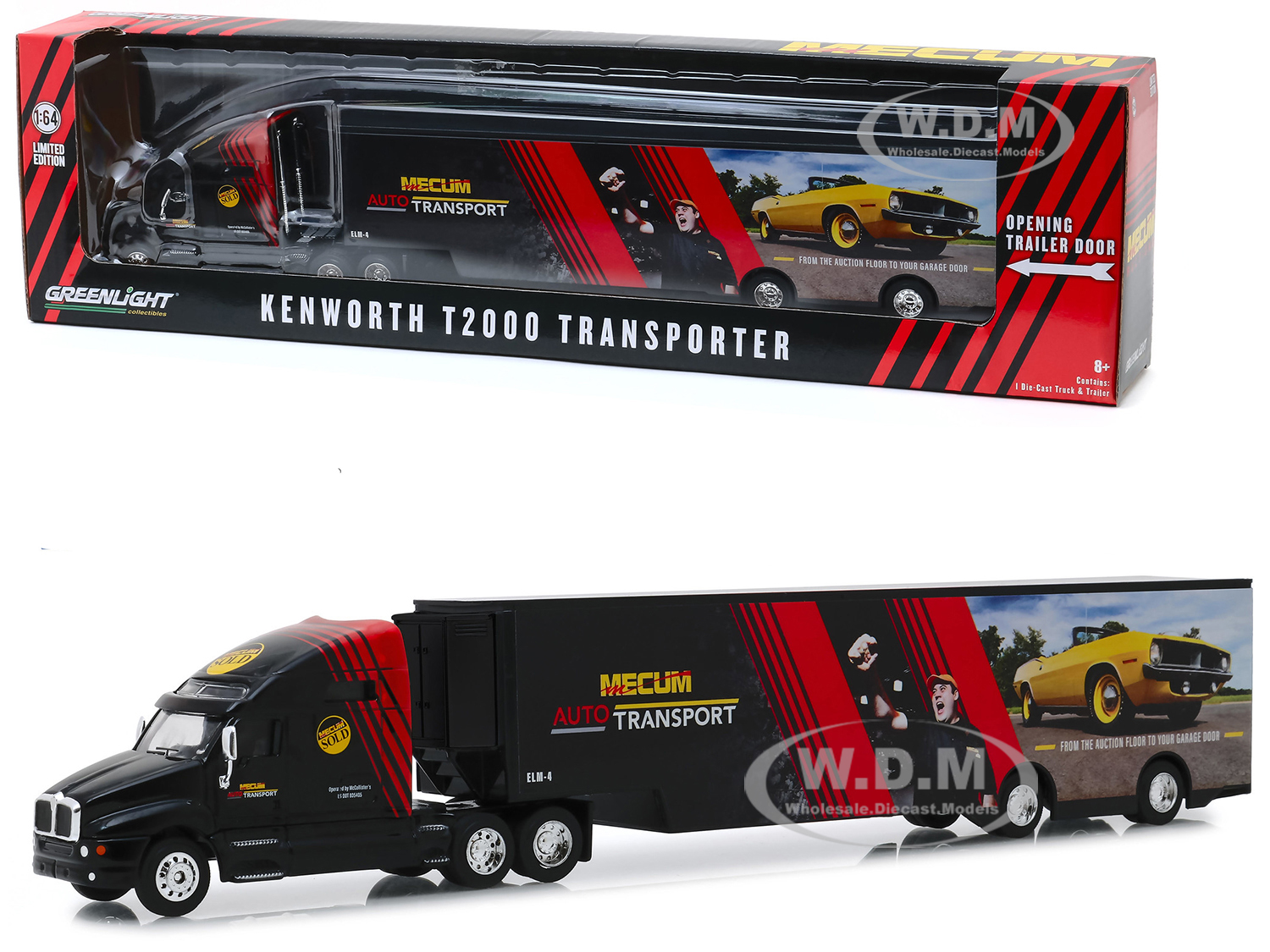Kenworth T2000 Mecum Auto Transport Transporter From the Auction Floor to Your Garage Door Hobby Exclusive 1/64 Diecast Model by Greenlight - from $22.99