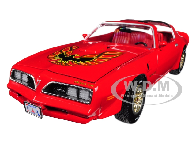 1977 Pontiac Firebird Trans Am Buccaneer Red Limited Edition to 1002 pieces Worldwide 1/18 Diecast Model Car by Autoworld
