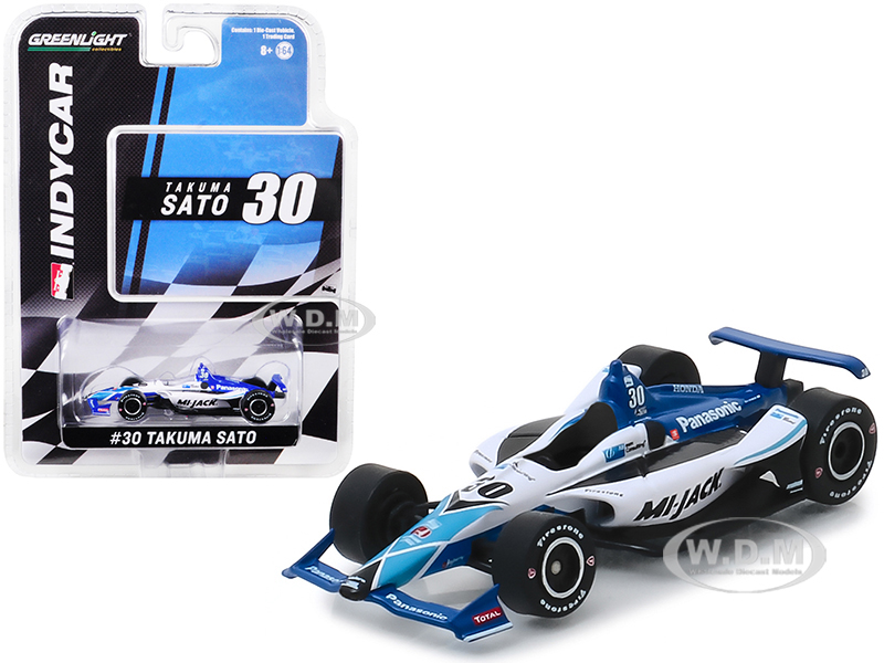 Honda Dallara Indy Car #30 Takuma Sato Panasonic/Mi-Jack Rahal Letterman Lanigan Racing 1/64 Diecast Model Car by Greenlight