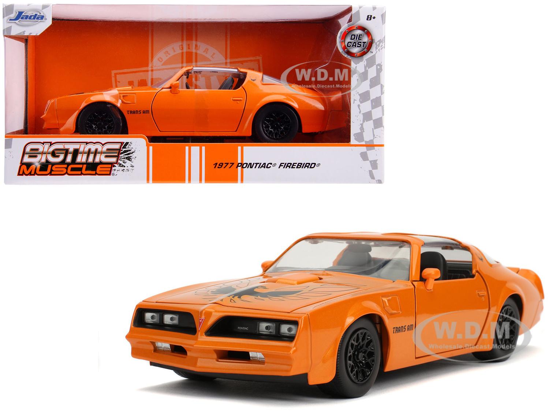 1977 Pontiac Firebird Trans Am Metallic Orange with Black Wheels Bigtime Muscle 1/24 Diecast Model Car by Jada - from $15.99
