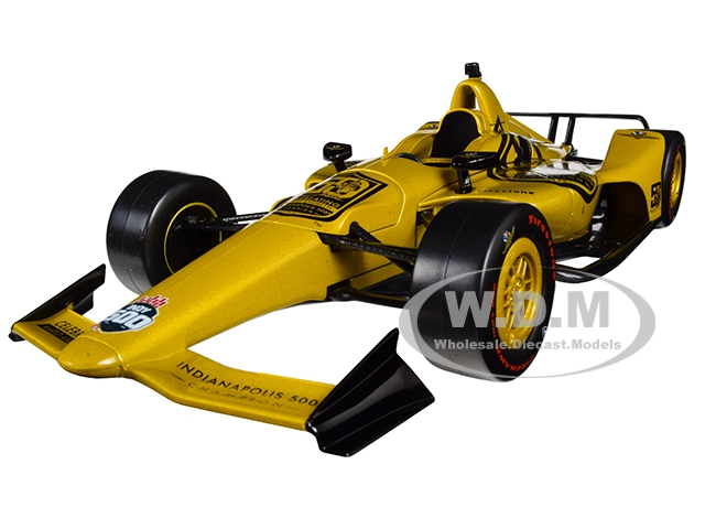 Indy Car Mario Andretti 50th Anniversary 1969 Indianapolis 500 Champion Dallara Universal Aero Kit Tribute IndyCar 1/18 Diecast Model Car by Greenlight