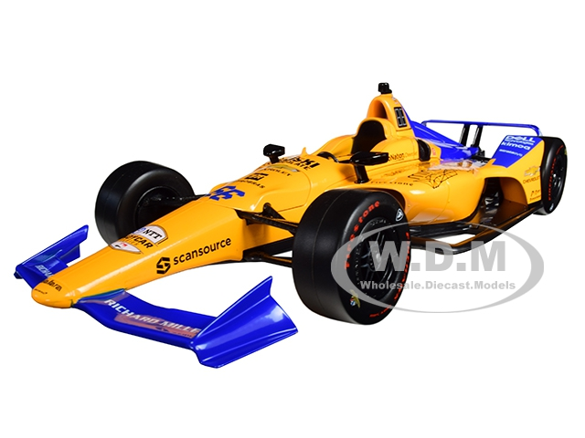 Dallara Indy Car #66 Fernando Alonso Dell Technologies Mindmaze McLaren Racing 1/18 Diecast Model Car by Greenlight