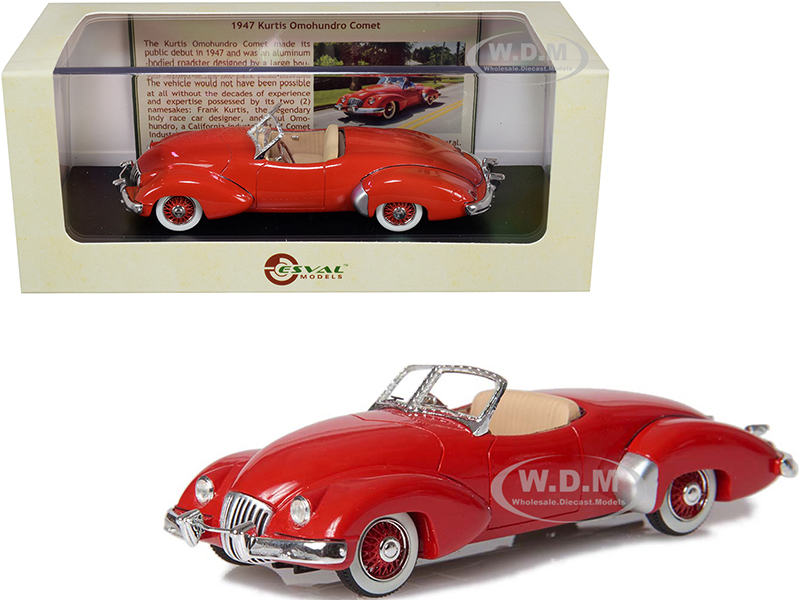 1947 Kurtis Omohundro Comet Roadster Red Limited Edition to 250 pieces Worldwide 1/43 Model Car by Esval Models