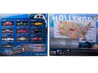 Greenlight Diecast Hollywood 10-Car 1/64 Scale Sets