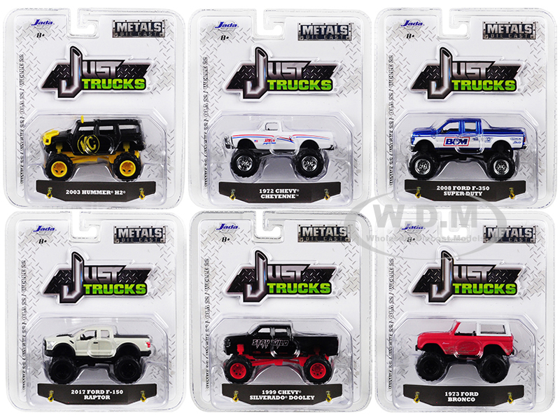 Just Trucks Set of 6 Trucks Series 22 1/64 Diecast Model Cars by Jada