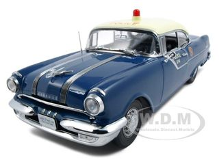 1955 Pontiac Star Chief Police Platinum Edition 1/18