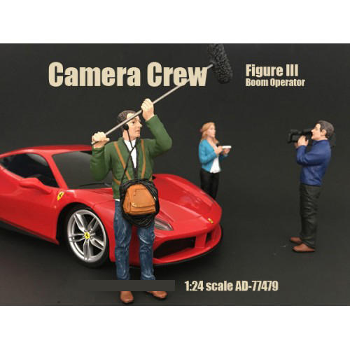 "Camera Crew Figure III ""Boom Operator"" For 124 Scale Models by American Diorama"