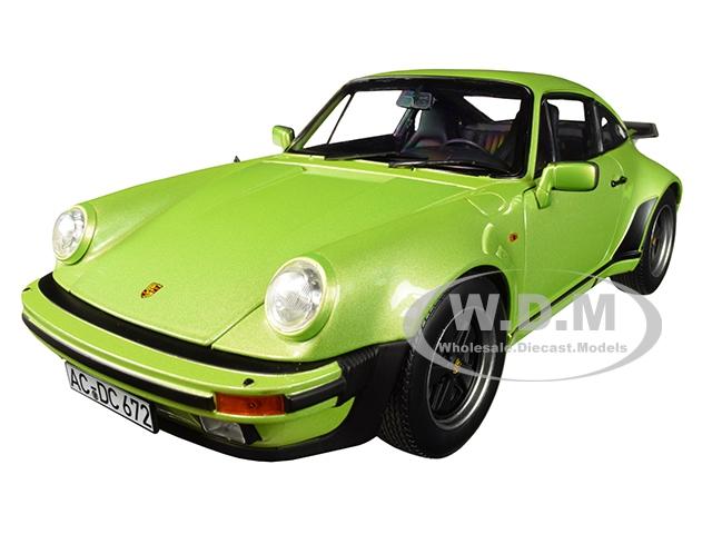 1978 Porsche 911 Turbo 3.3 Silvergreen Metallic 1/18 Diecast Model Car by Norev