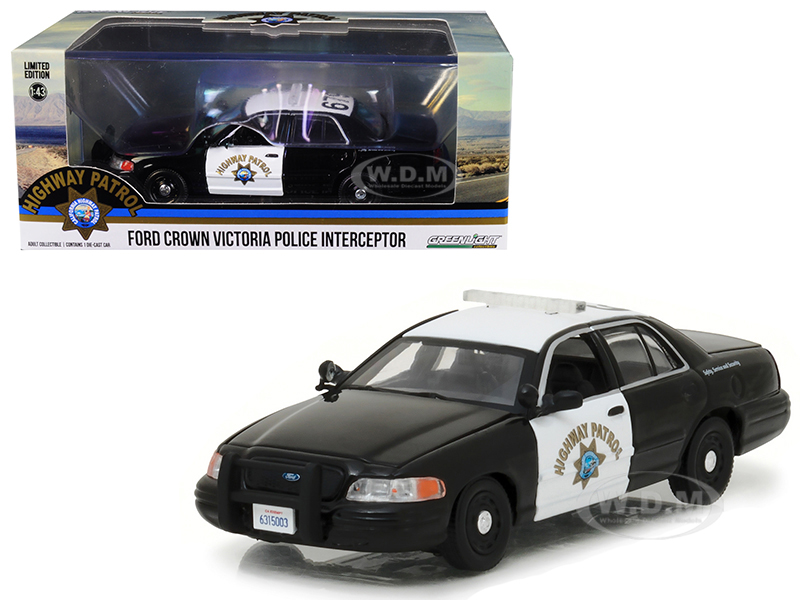 Ford Crown Victoria Police Interceptor Car California Highway Patrol (CHP) 1/43 Diecast Model Car by Greenlight