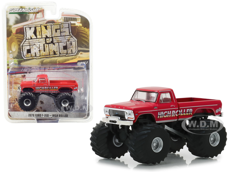 1979 Ford F-350 Monster Truck High Roller Kings of Crunch Series 3 1/64 Diecast Model Car by Greenlight