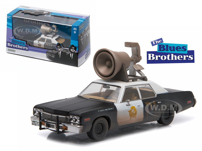 1974 Dodge Monaco Bluesmobile with Speaker on Roof The Blues Brothers (1980) Movie 1/43 Diecast Model Car by Greenlight  - from $14.99